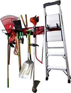 """product image for Wall Control Garage Storage Rack Lawn & Garden Tool Organization Wall Mounted Organizer - Easy to Install 64"""" Wide Red Metal Peg Board Set (Red Pegboard)"""