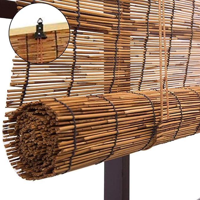 ZLI Carrizo Persianas Sombrillas Reed para Interiores/Exteriores, Fácil de Subir/Bajar la Ventana de Cocina Persianas Enrollables para Pérgola Jardín, 60cm/80cm/90cm/100cm/120cm/140cm Ancho: Amazon.es: Hogar