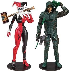 Animated DC Comics Wave 1 7-Inch Action Figure Green Arrow (Arrow TV) Harley Quinn Classic