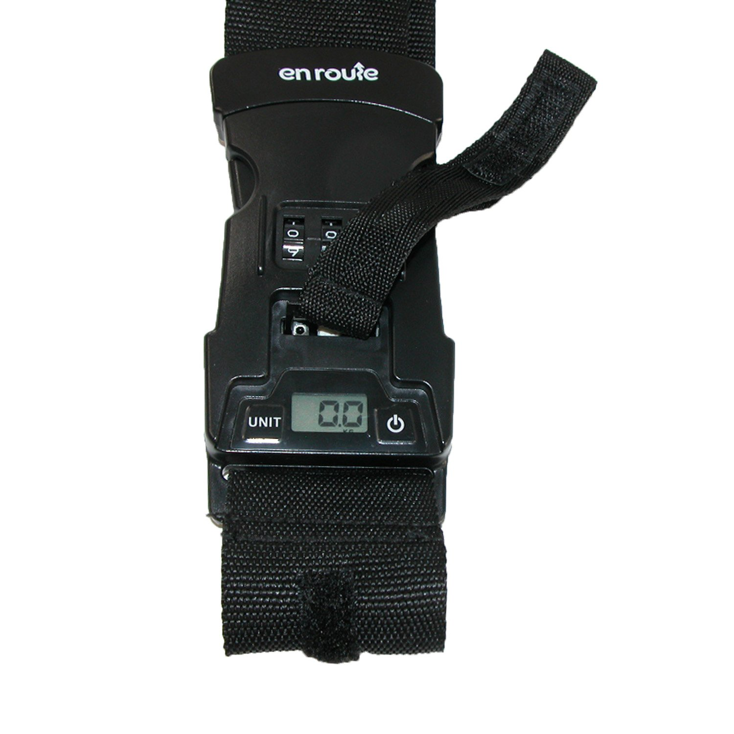 Black Enroute Luggage Strap with Built in Luggage Scale