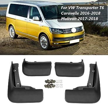 BTSDLXX 4 Pcs Set Coche Guardabarros, Delanteros Traseros Goma Barro Aletas Protectores contra Salpicaduras Accesorios, para VW Transporter T6 ...