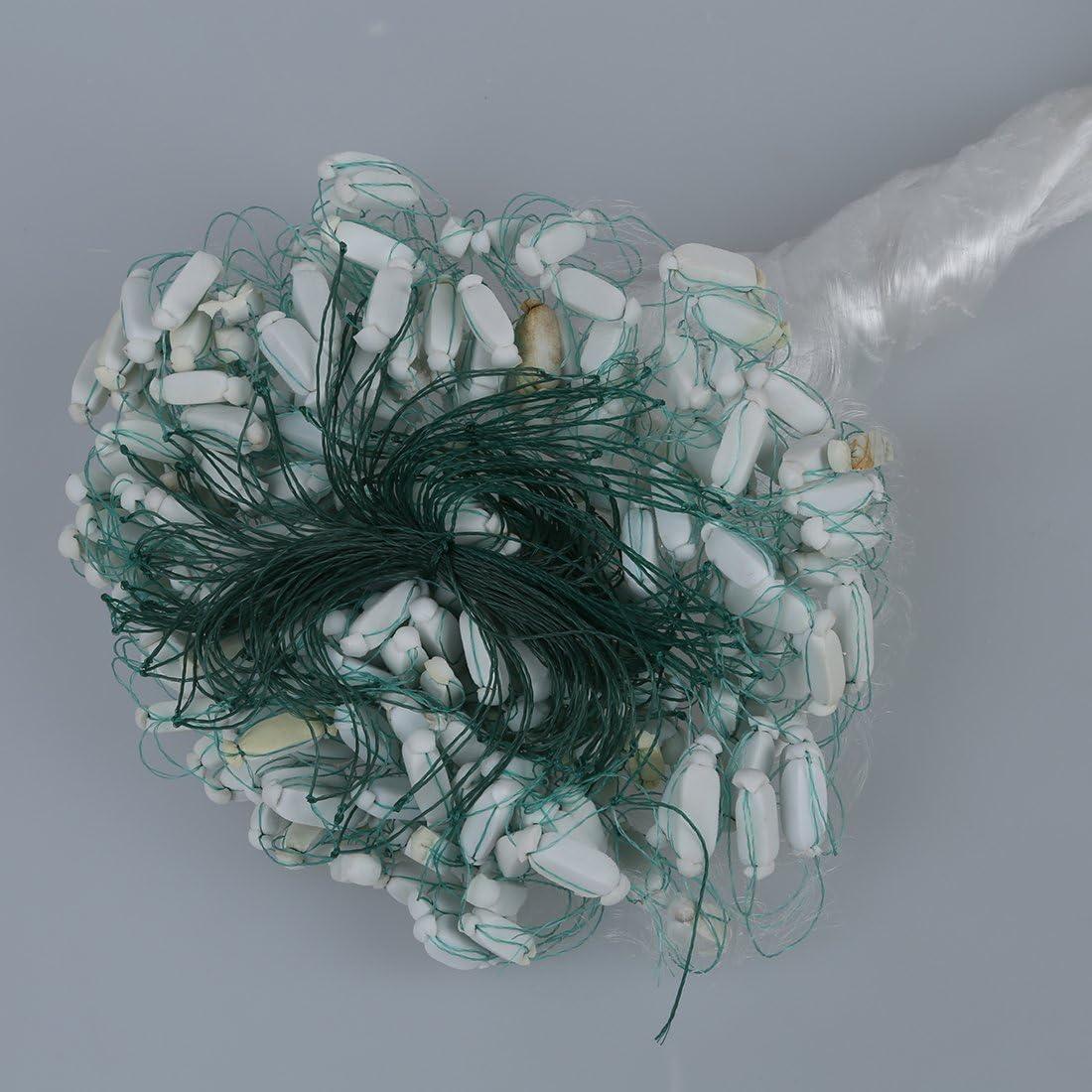 Tiamu 25m Blanco Claro Verde Red de enmalle de Pesca Pescar de monofilamento con Flotador
