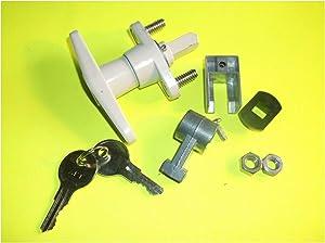 T-Handle Shutter Lock Kit - Hurricane Storm Shutter Lock White