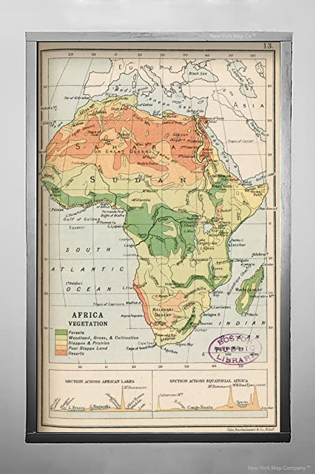 Map Of Africa Vegetation.Amazon Com 1913 Map Title Africa Vegetation Notes Appears On Page