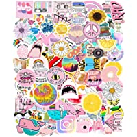 103 Pcs Pink Cute Laptop Stickers Girls Cartoon Water Bottles Stickers Waterproof Vinyl Stickers for Hydro Flask…