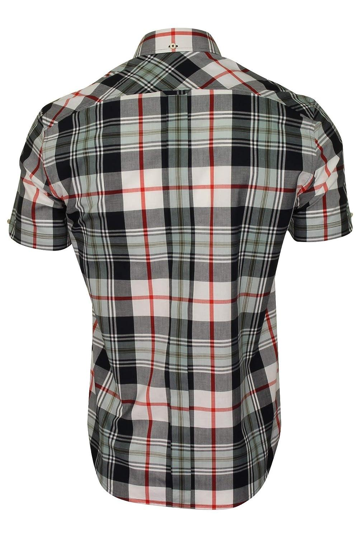 Ben Sherman SS Textured Check Shirt Camicia Uomo