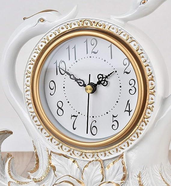 Amazon.com : Family Fireplace Clocks Creative Table Clock Decoration ó n Decoration Home ó Desktop TV Table Clock Wine Cabinet Furniture European Table ...