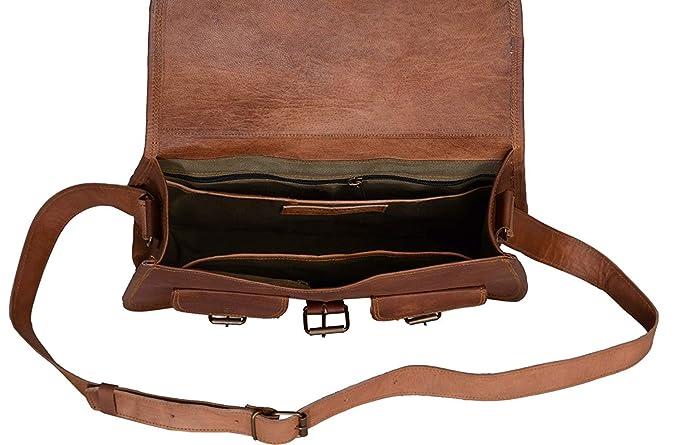 kpl 14 pulgadas Piel Bolso Mujeres Bolsa De Hombro Crossbody Satchel - Bolso Viaje Bolso Cartera De Piel Auténtica: Amazon.es: Electrónica