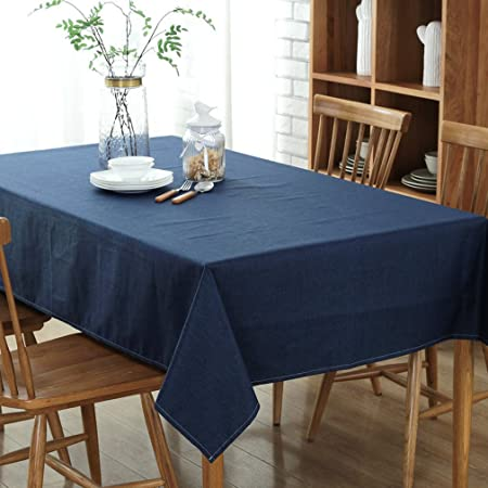 MStar 100x130 Cm Top Quality 100% Cotton Soft Washable Tablecloth Table  Cloth Available In 4