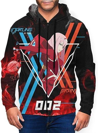 Amazon.com: Darling in The Franxx Men Anime Hoodie 3D Print Full-Zip  Sweatshirt: Clothing