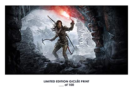 RARE POSTER Thick Lara Croft RISE OF THE TOMB RAIDER 2015 Video Game REPRINT
