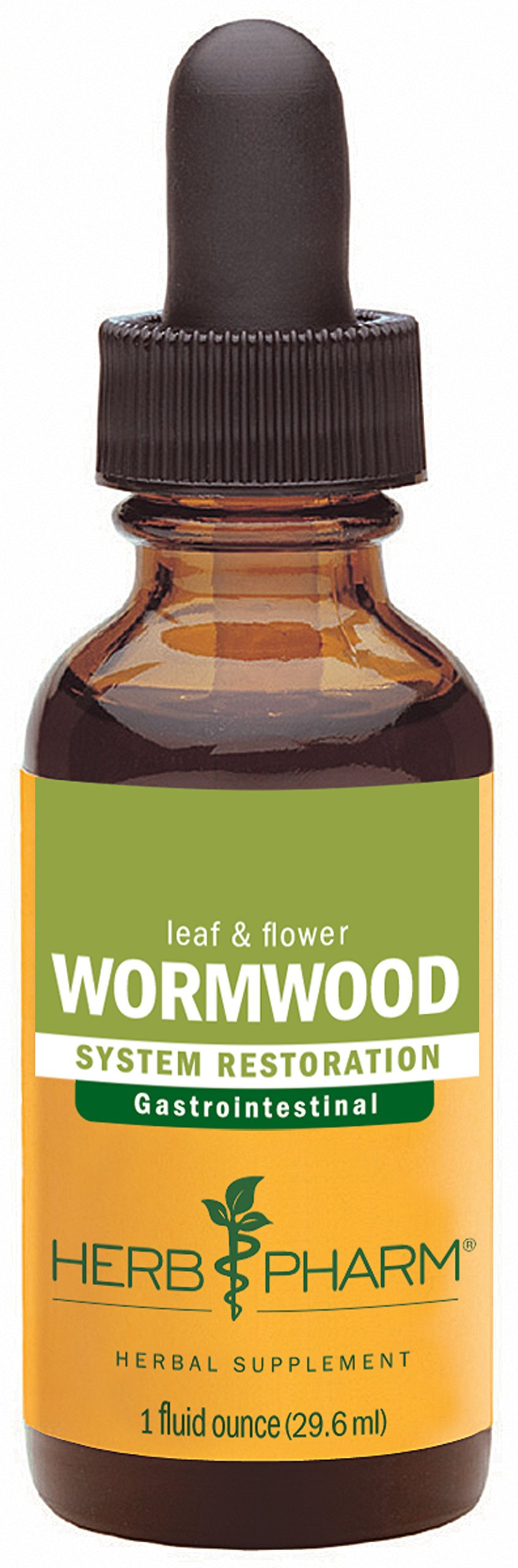Herb Pharm Certified Organic Wormwood Extract for Digestive System Support - 1 Ounce