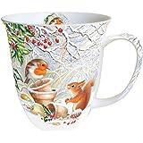 Ambiente Grande tazza da 0.4 litri di porcellana cinese - Scoiattolo amore