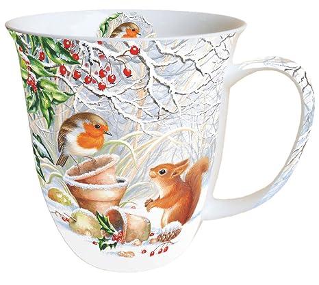 Porzellan Weihnachten.Kaffeebecher Becher Mug Winter Picture 0 4l Porzellan Bone China Geschenk Weihnachten Prasent Winter
