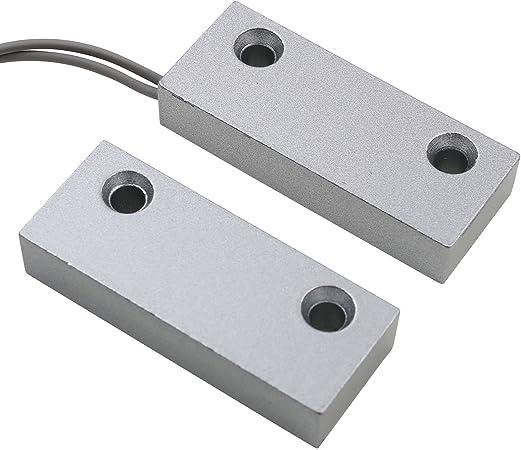 UHPPOTE Superficie Montado con Cable Magn/ético Puerta de Metal Ventana Detector de Sensor Interruptor de Contacto