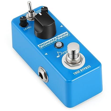 Donner –Pedal de Efectos Compresor para Guitarra Sonido Opción de Normal y Treble True Bypass