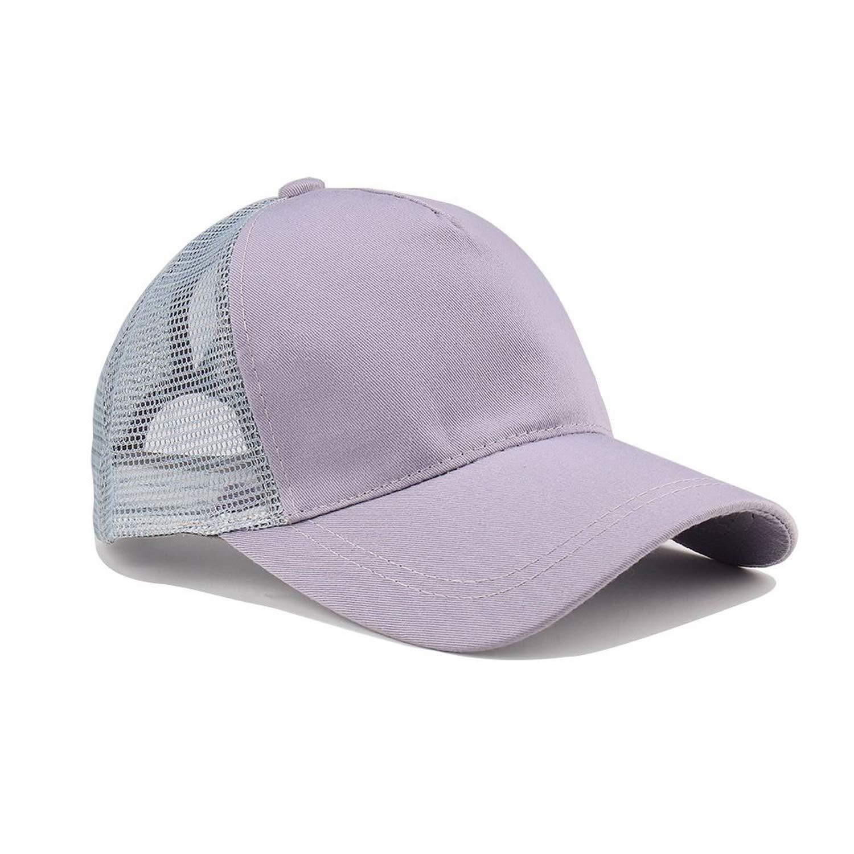 Ron Kite Glitter Ponytail Baseball Cap Women Snapback Hat Summer Messy Bun Mesh Hats Casual Adjustable Sport Caps