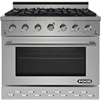 """NXR SC3611 36"""" 5.5 cu.ft. Professional Style Gas Range with Convection Oven, Stainless Steel"""