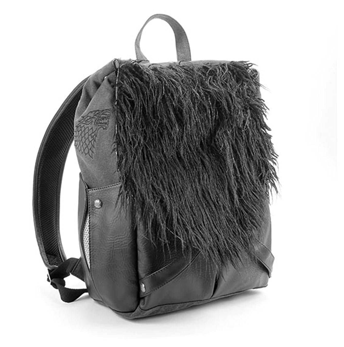 Faux Leather and Faux Fur Canvas Game of Thrones Jon Snows Backpack