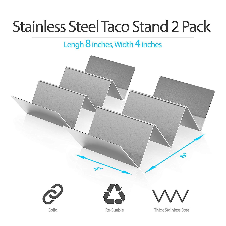 Amazon.com: KABB - 2 bandejas de acero inoxidable, soporte ...