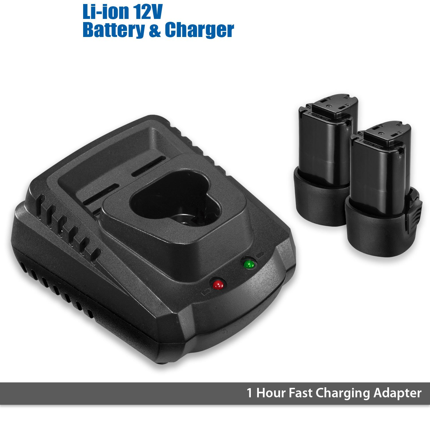 ACDelco G12 Series 12V Cordless 3'' Mini Polisher Tool Set with 2 Li-ion Batteries, Charger, and Accessory Kit, ARS1212 by ACDelco Tools (Image #4)