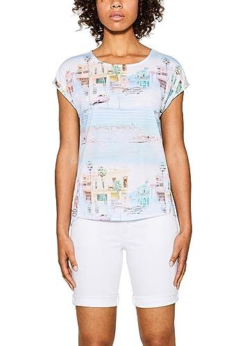 ESPRIT 067ee1k057, Camiseta para Mujer