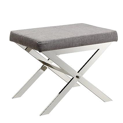buy popular 823b7 5969b Amazon.com: Contemporary Linen Upholstery 22 Inch Vanity ...