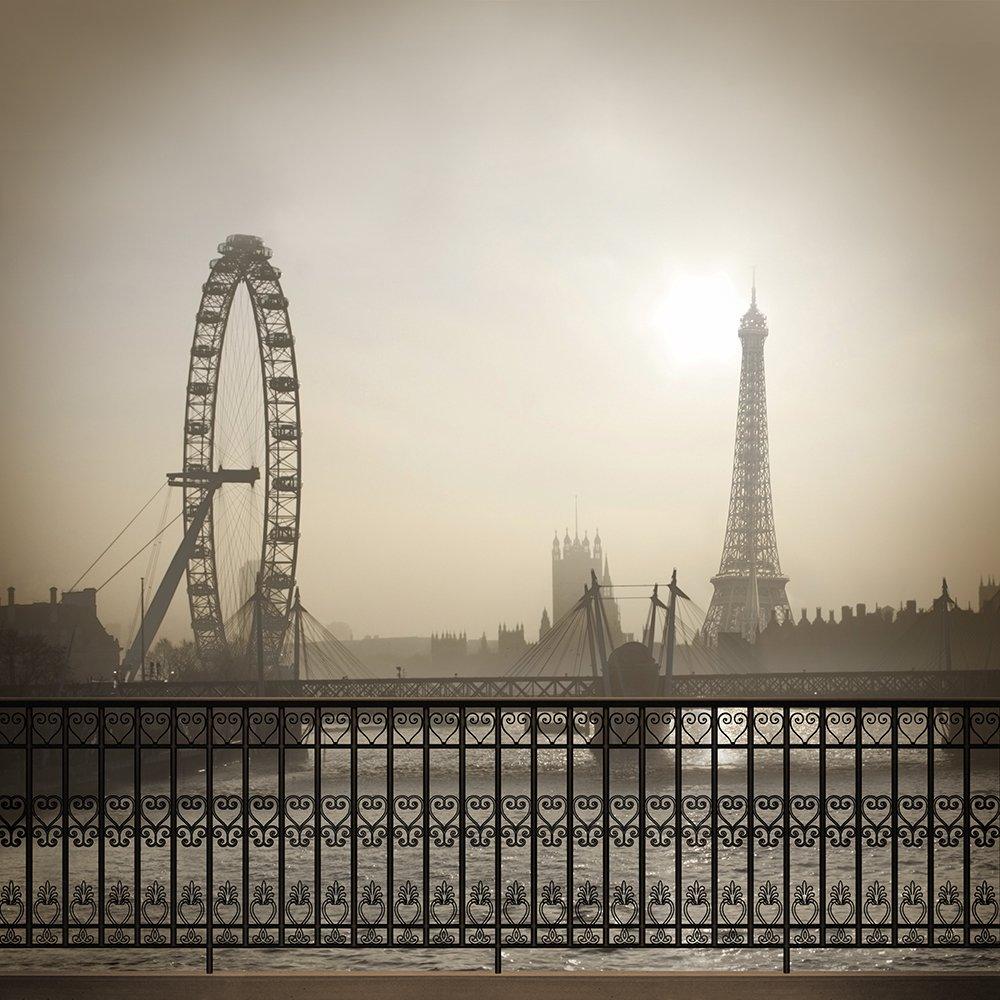 写真バックドロップ – パリカーニバルin Sepia Tones – 10 x 10 ft。 – 高品質シームレスなファブリック   B00OM6IYCO