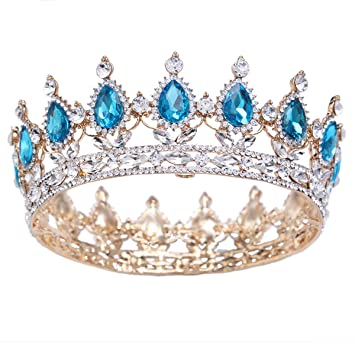 Image Unavailable. Image not available for. Color  Santfe 2 quot  Height  Silver Gold Plated Crystal Rhinestone Ruby Full Circle Tiara Crown Bridal fc4e49eab3c8