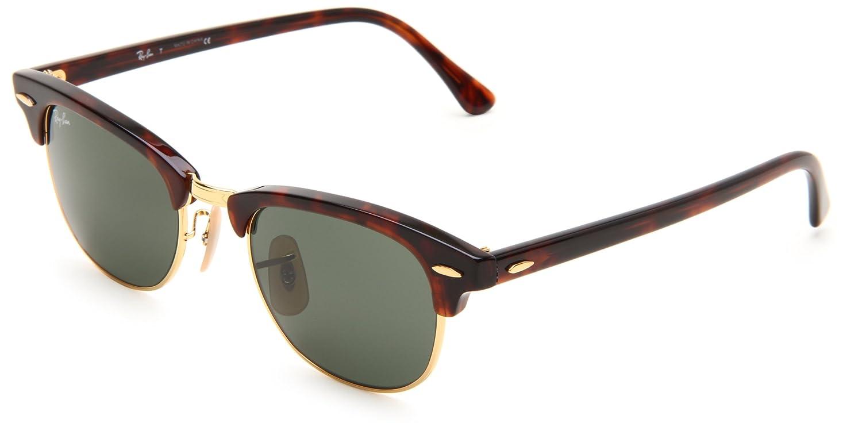 6ab22c762a RayBan RB 2156 New Clubmaster Sunglasses  Amazon.co.uk  Clothing