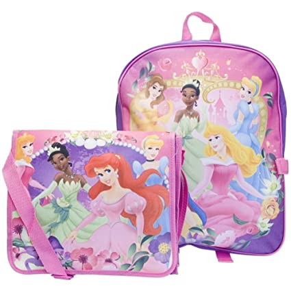 74faf2a62e Amazon.com  Disney 5 Princess Large Backpack and Detachable Messenger Tote  Bag  Toys   Games