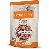 Nature's Variety Original No Grain - Paté para Gatos Adultos con Pavo - Caja 12 x 70 g