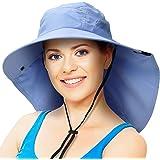 Solaris Outdoor Fishing Hat Ear Neck Flap Cover Wide Brim Sun Protection Safari Cap Men Women Hunting, Hiking, Camping, Boating & Outdoor Adventures
