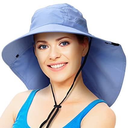 13a00b7140f Solaris Outdoor Fishing Hat with Ear Neck Flap Cover Wide Brim Sun  Protection Safari Cap for