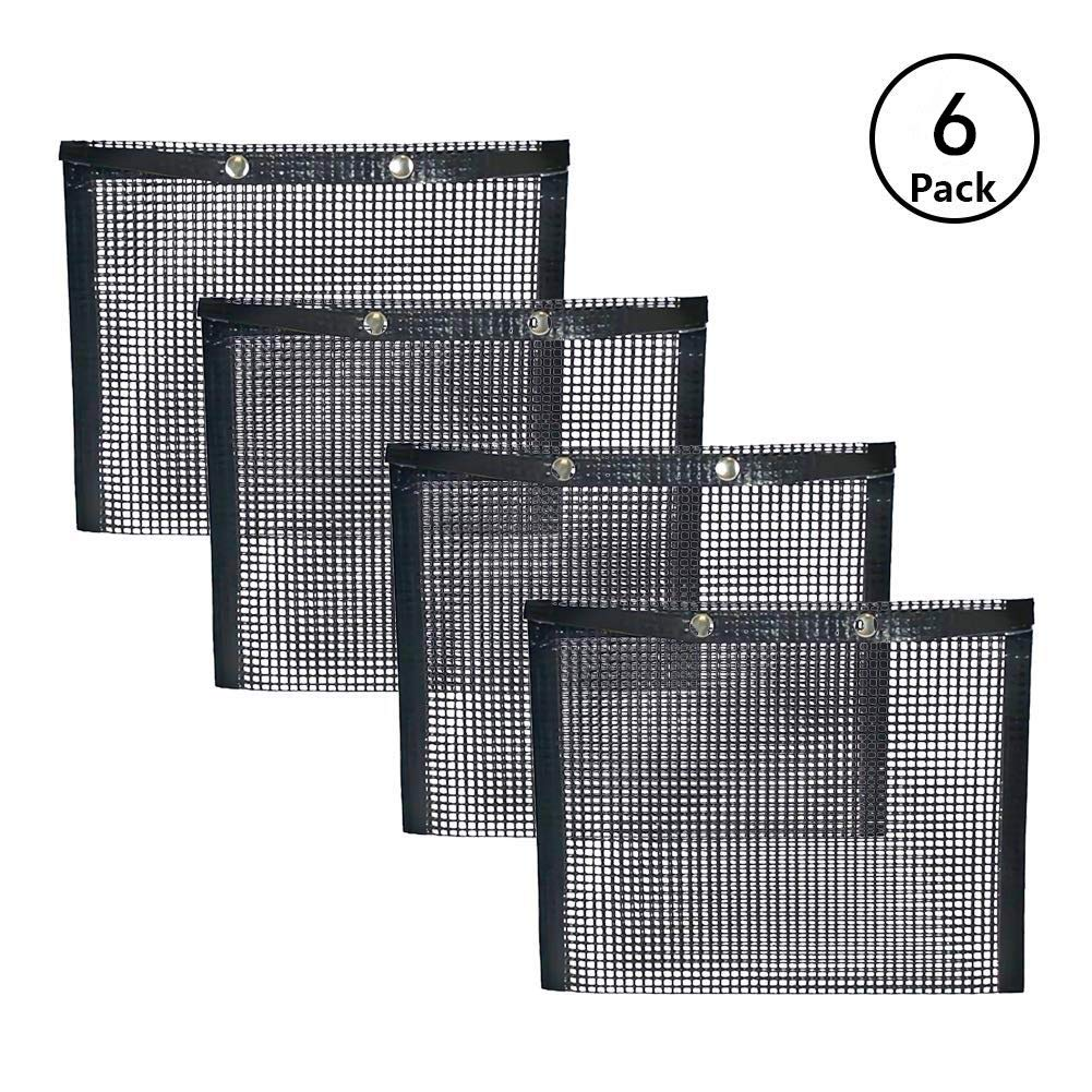 BBQ Grill Mesh Bag,Non-Stick BBQ Baked Bag Grilling Baking Reusable and Easy to Clean Non-Stick Mesh Grilling Bag (6 PACK) by ACGN
