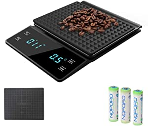 3T6B Electronic Drip Coffee Scales, Kitchen Roasting Electronic Scales with Timer Hand-Made Coffee Scales 0.1g High-Precision Food Scales (New)