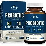 Nuevida Probiotic with Prebiotic Fiber - 60 Billion 19 Strains - Shelf Stable Delayed Release Technology - Support…