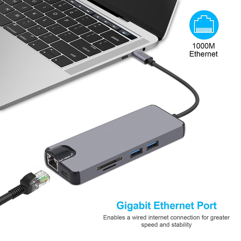 Microware 8 in1 USB C Hub: Amazon.in: Electronics