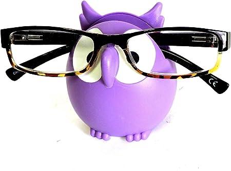 Owl Glasses Eyeglass Holder Stand, Display Rack Smartphone Holder