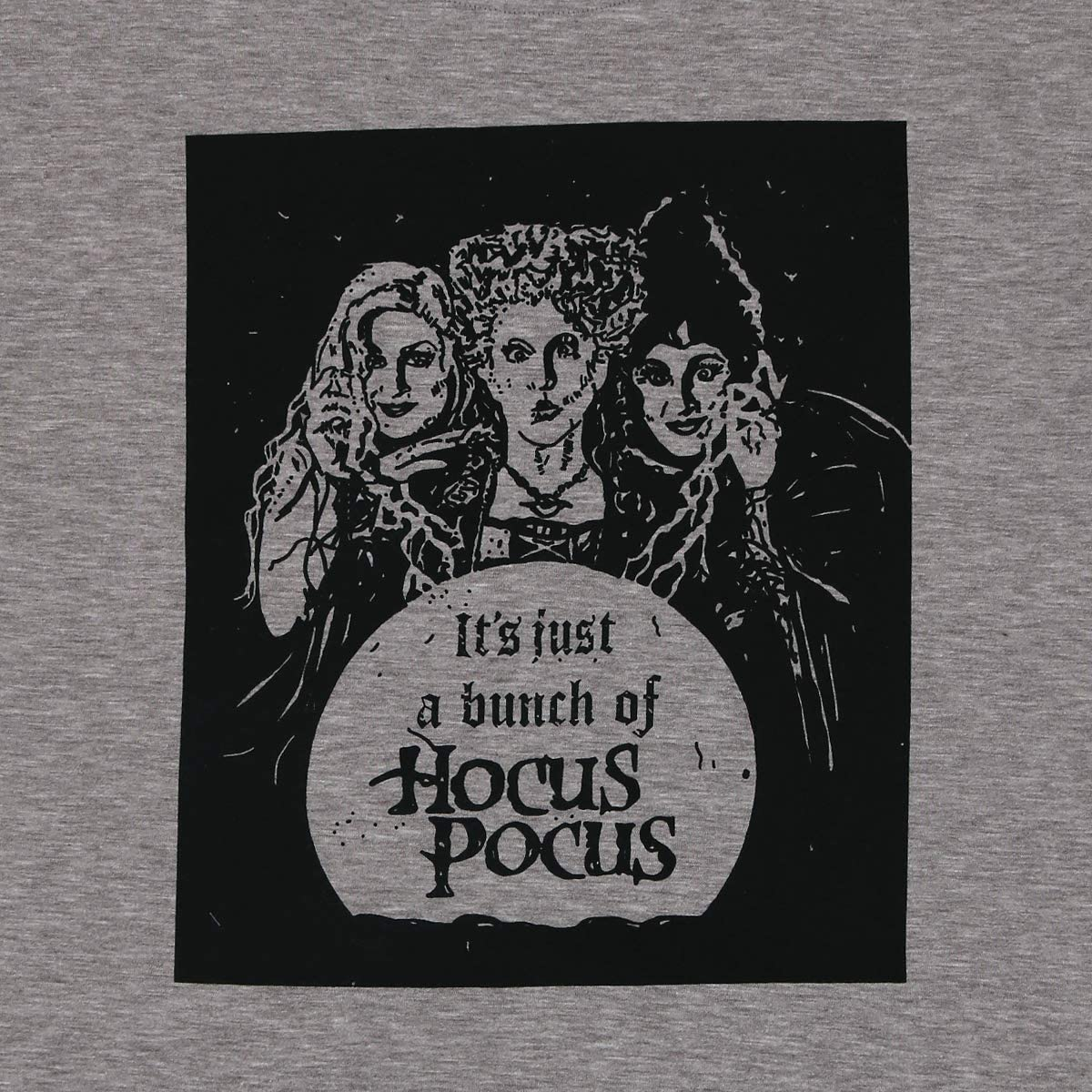Its Just A Bunch of Hocus Pocus Shirt Women Sanderson Sisters Short Sleeve Halloween Tops Tee