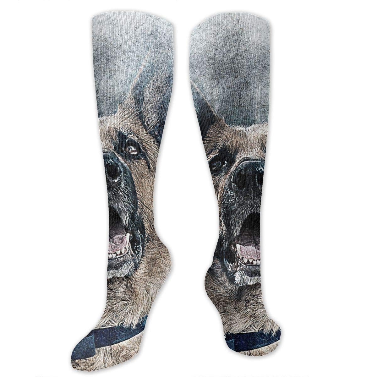 Men Multicolored Pattern Fashionable Fun Crew Cotton Socks Chanwazibibiliu Roaring Dog Cute Mens Colorful Dress Socks Funky