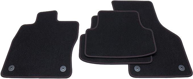tuning-art 156R-R1N-FBA Tapis de Sol de Voiture Exclusif avec Bordure et Couture matelass/ée
