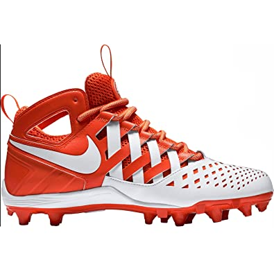Nike Mens Huarache V Lax Mid Lacrosse Cleats (9, TEAM ORANGE/WHITE-