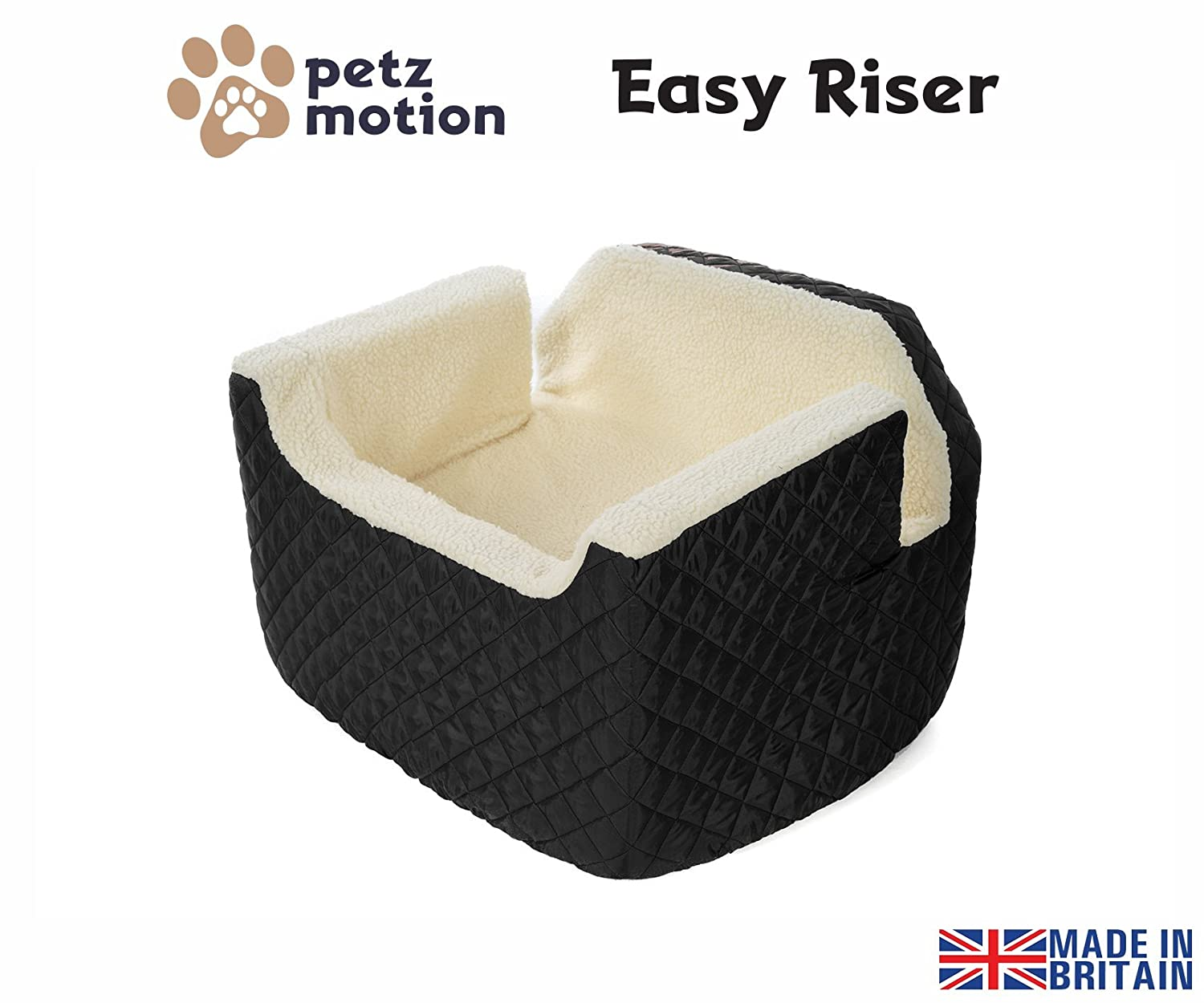 Petzmotion Easy Riser Pet//Dog Booster Safety Car Seat Medium, Black