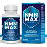 NMN Capsules with Maximum Strength- 400mg Capsule - 60 Capsules - High Absorption Nicotinamide Mononucleotide Supplement…