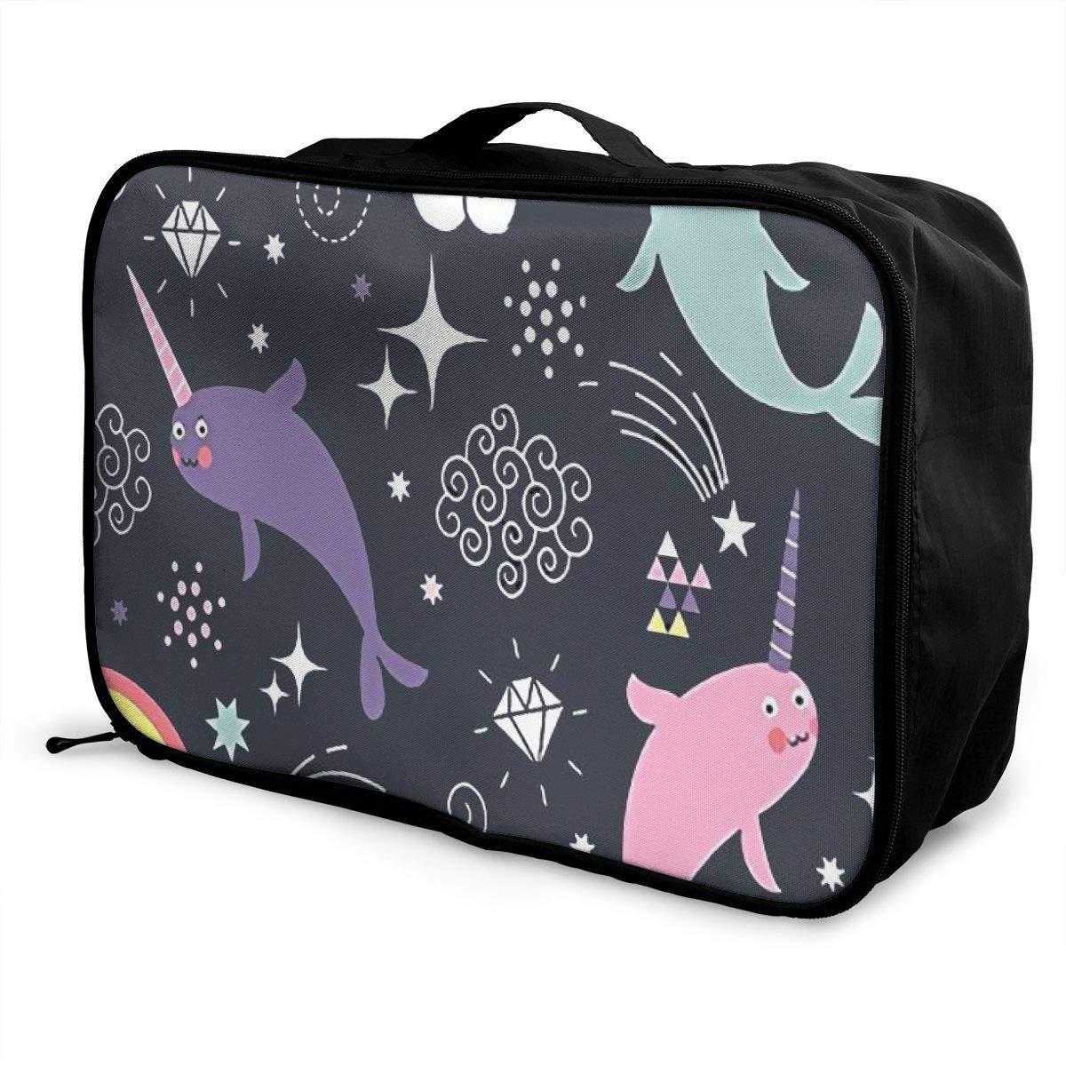06ba102ea7fd Amazon.com | Narwhal Rainbow Unicorn Travel Storage Carry Luggage ...