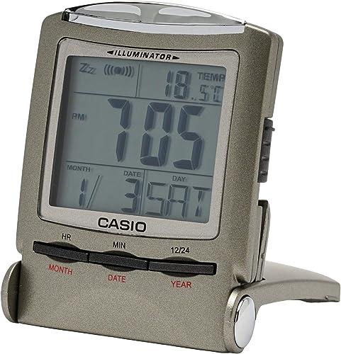 CASIO travel clock PQ-50J-8 display metallic gray Digital Japan Import