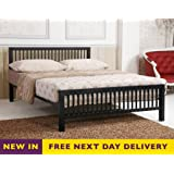 Time Living Meridian 4ft6 Black Double Metal Bed Bed Frame Only