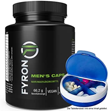 FYRON MENs + Esperma + Testosterona + Rendimiento + Pasión - 100 cápsulas: Amazon.es: Salud y cuidado personal