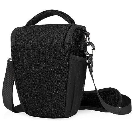 CADeN DSLR/SLR Camera Shoulder Bag Case with Adjustable Shoulder Strap, Compatible for Nikon, Canon, Sony Mirrorless Cameras Waterproof Black